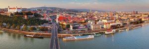 Tauck river cruise ship on the Danube in Bratislava