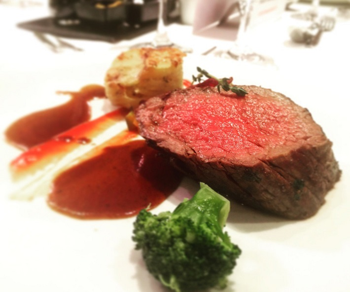 Beef tenderloin in AmaPrima restaurant