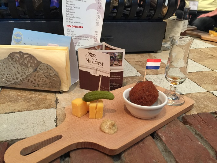 Cheese tasting board in Hoorn