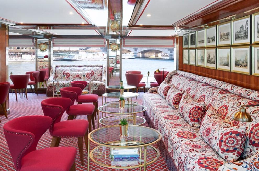 Chic 1920s-style interior of Joie de Vivre lounge