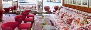 Lounge area on Uniworld SS Joie de Vivre river cruise ship