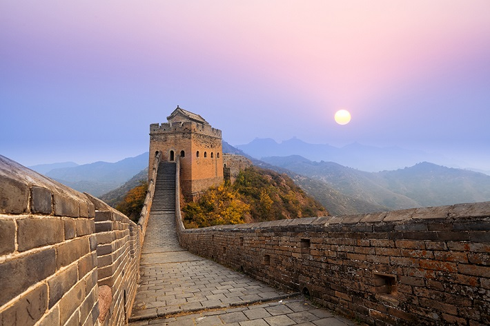 Walkway of the Great Wall of China