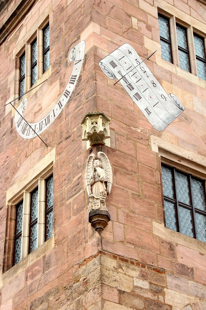 Exterior of an old building in Nuremberg's Old Town