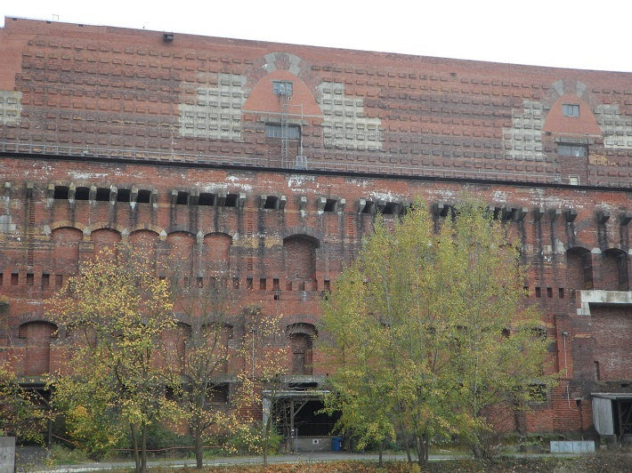 Crumbling exterior of the Nazi Party Rally Grounds in Nuremberg