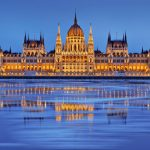 Hungarian Parliament building on the banks of the Danube
