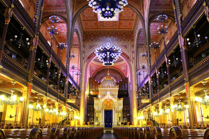 Interior of the Great Synagogue in Budapest