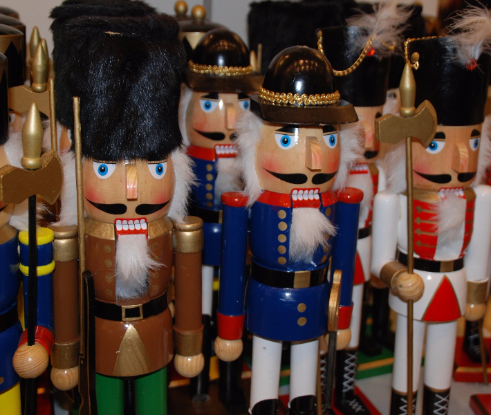 Traditional gift - German nutcracker on a stall