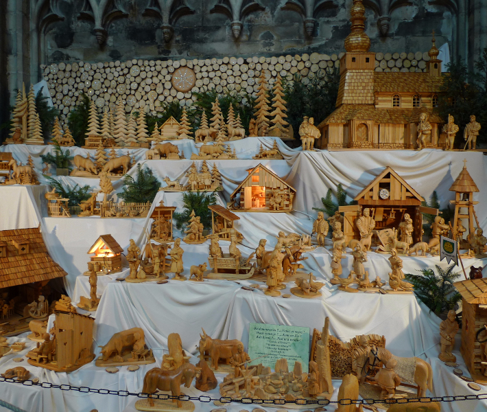 Traditional Christmas gift - a wooden nativity