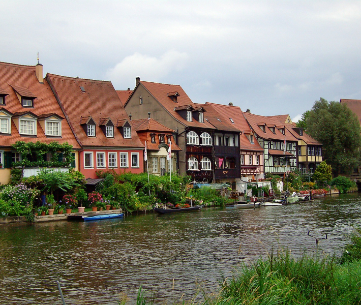 Picturesque riverside town in Germany - Bamberg