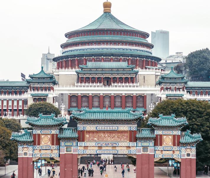 Intricate temple in Chongqing