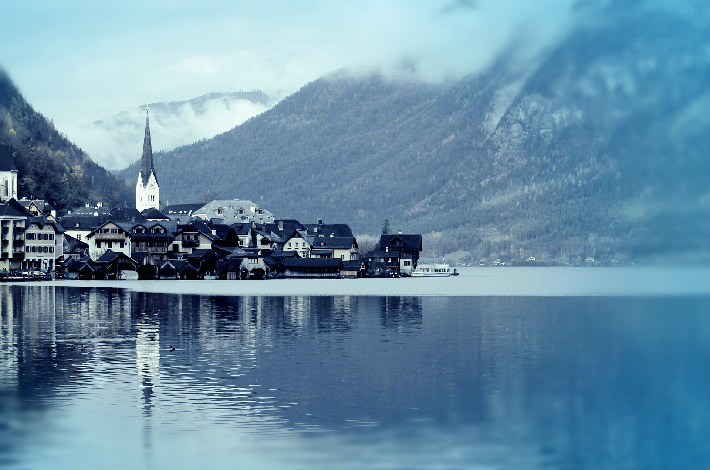 Hallstatt in winter - perfect port stop for a seasonal sailing along the Danube