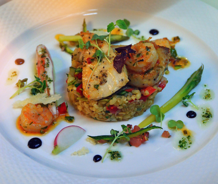 Dish of healthy food - promoted on-board Avalon ships with Avalon Fresh