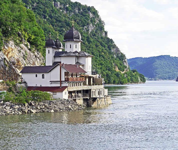 Iron Gate landmark on the Danube