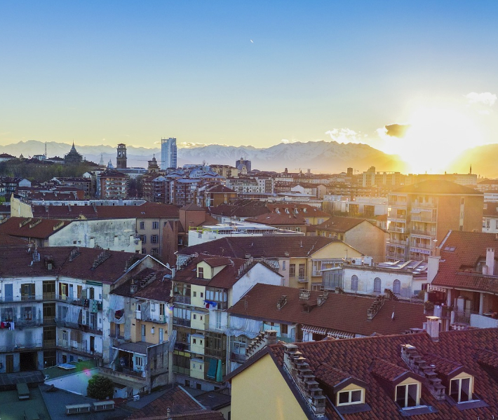 View of the rooftops in Turin