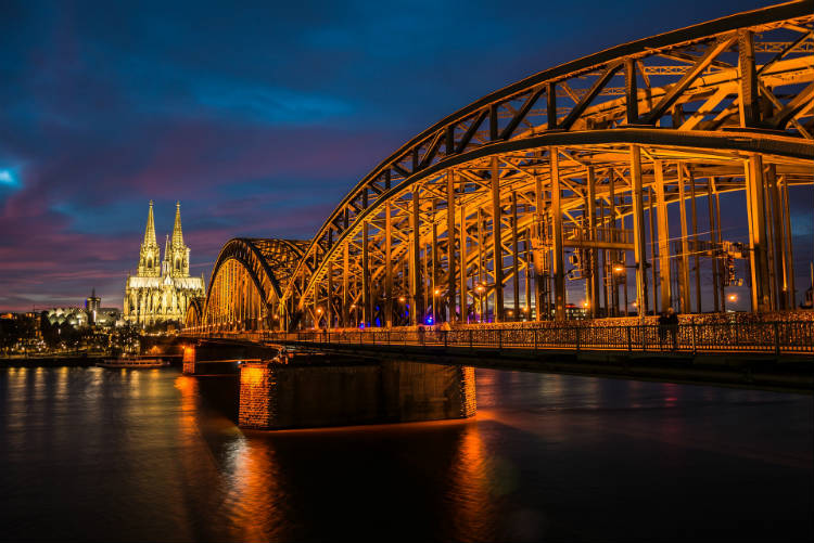 Cologne along the river Rhine
