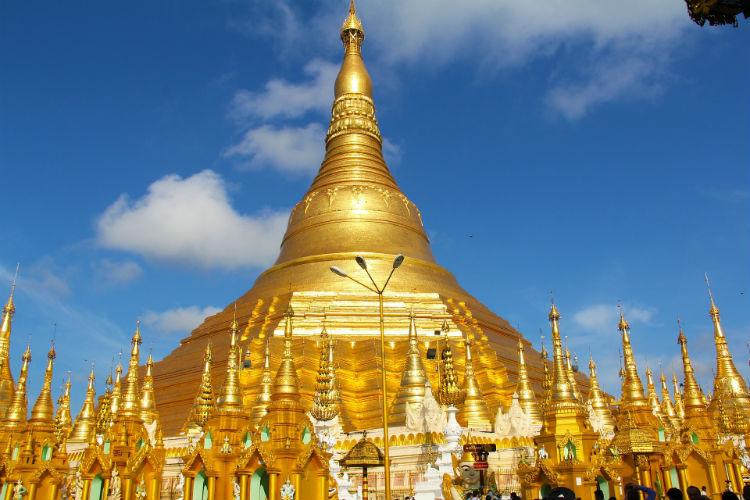 Golden pagoda in Yangon