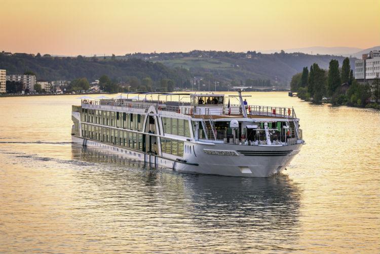 Amadeus river cruise ship sailing along the Rhone