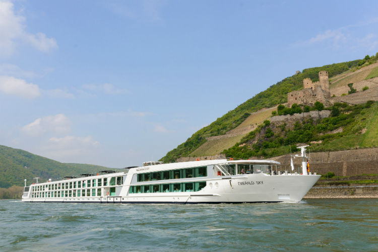 Emerald Sky sailing along the rivers of Europe