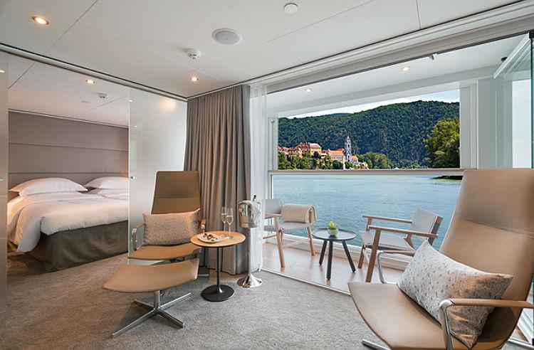 Balcony room on-board Emerald Waterways
