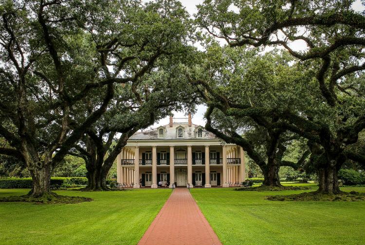 New Orleans - Plantation house - Mississippi River