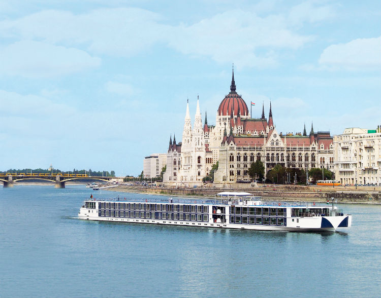 Uniworld - River cruise ship sailing along the Danube