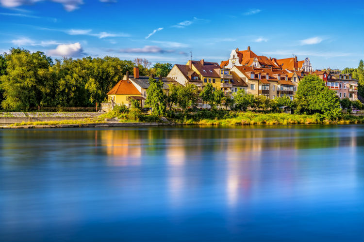 Regensburg, Germany - Along the Danube river