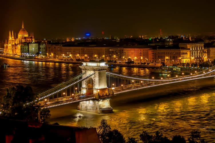 Bridge on the Danube River - Budapest