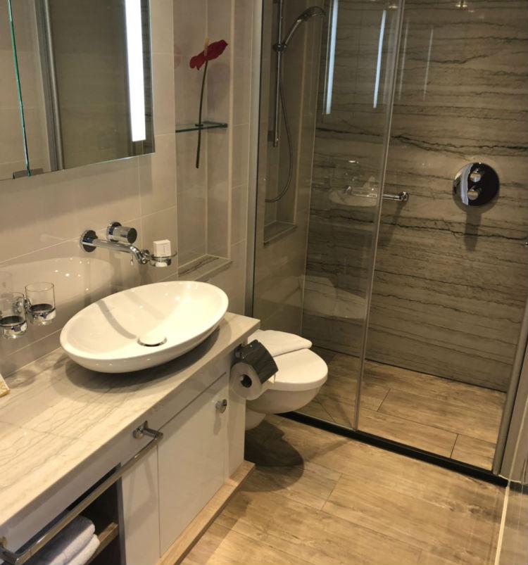 Bathroom on-board MS Emily Bronte - Riviera Travel