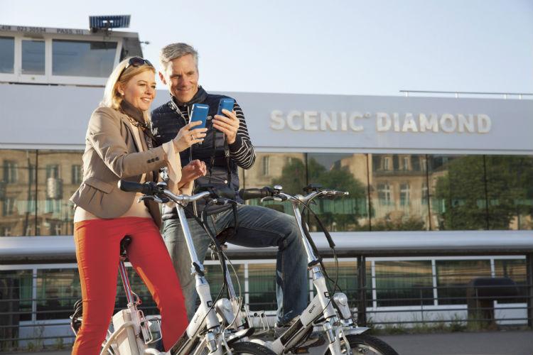 Couple on the bikes - Scenic River