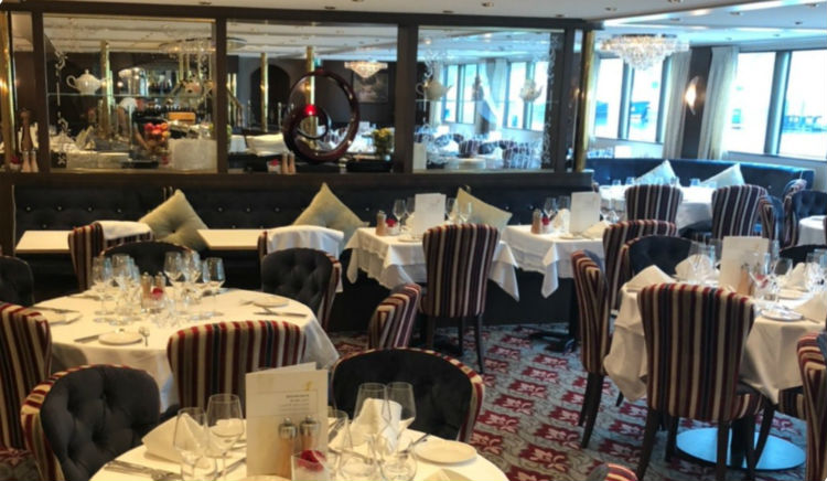 Dining room on-board MS Emily Bronte - Riviera Travel
