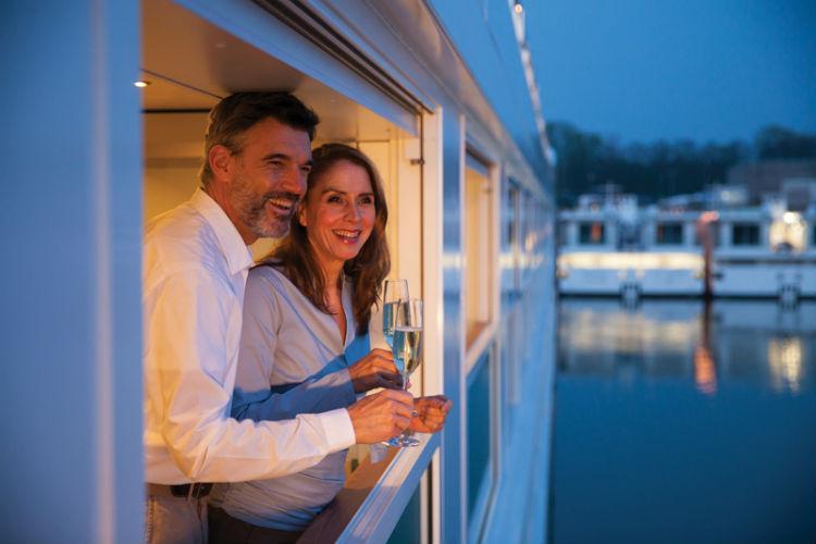 Couple on-board Emerald Waterways