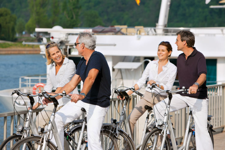 Group on bikes - Uniworld River Cruise