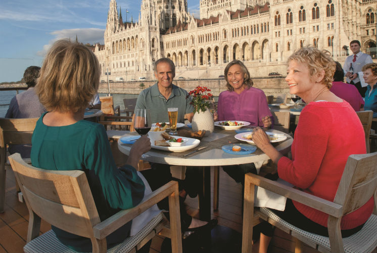 Viking River - Guests enjoying dinner on-board