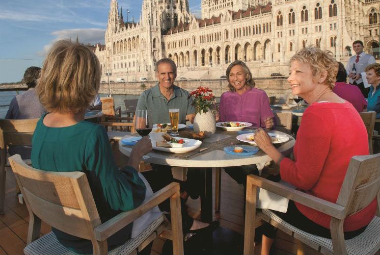 Viking River - Guests enjoying dinner on-board