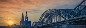 Bridge over the river Rhine - Cologne, Germany