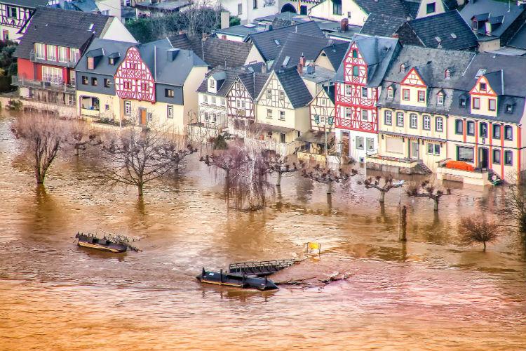 High water levels - Rhine River