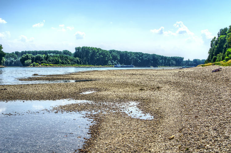 Low water levels - Rhine River