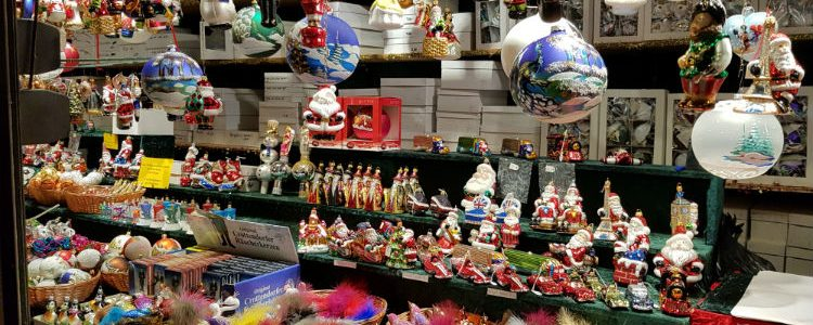 Christmas trinkets at the market