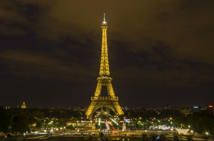 Eiffel Tower at night - France