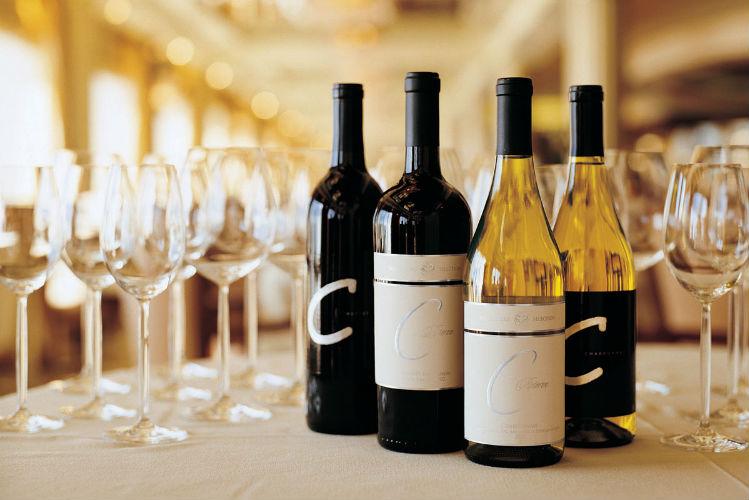 Wine on-board Crystal Cruises
