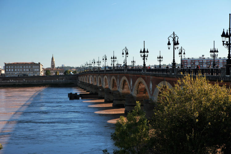 River in Bordeaux, France