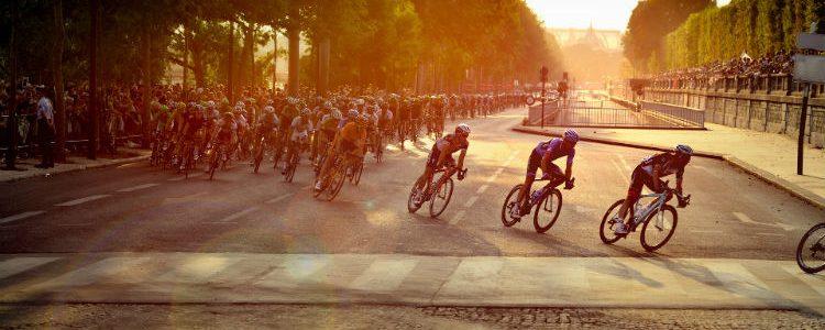 Cyclists on the Tour de France