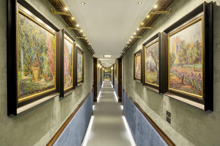 Corridor on-board SS Bon Voyage - Uniworld