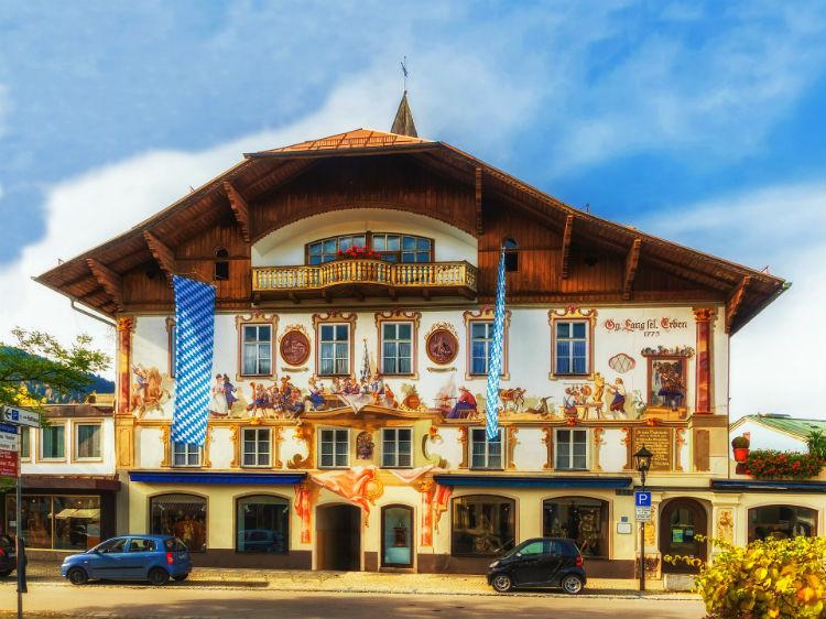 Painting on buildings in Oberammergau - Germany
