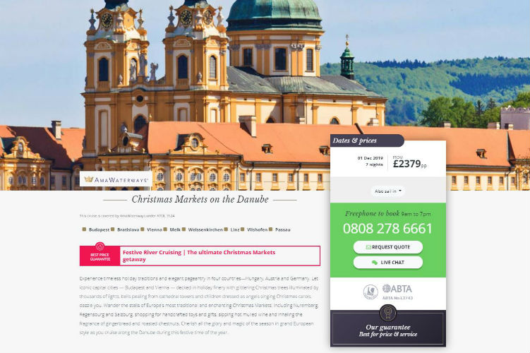 River Voyages - AmaWaterways Itinerary