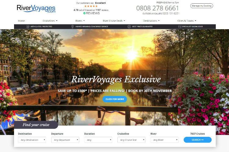 River Voyages Website