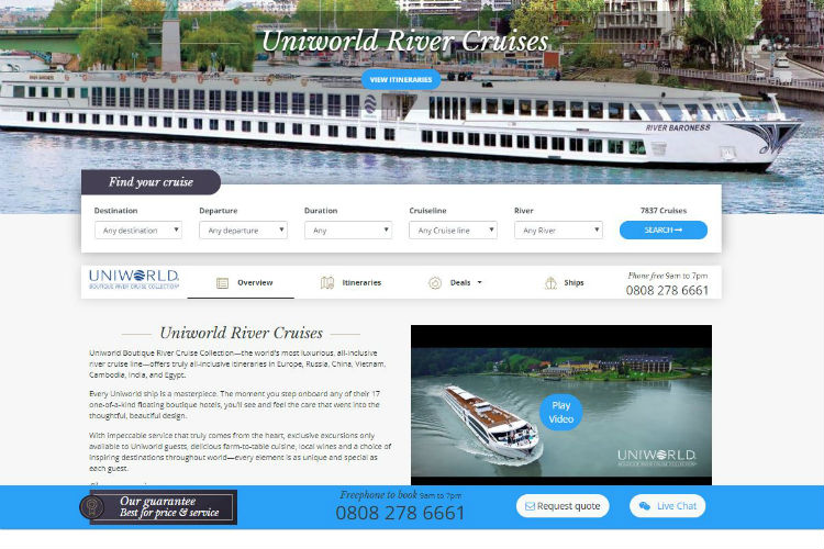Uniworld River Cruises - River Voyages