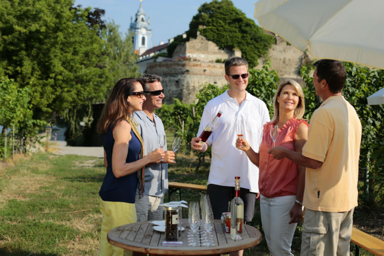 Group wine-tasting - AmaWaterways